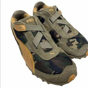 Women's Puma velcro tennis shoes camouflage